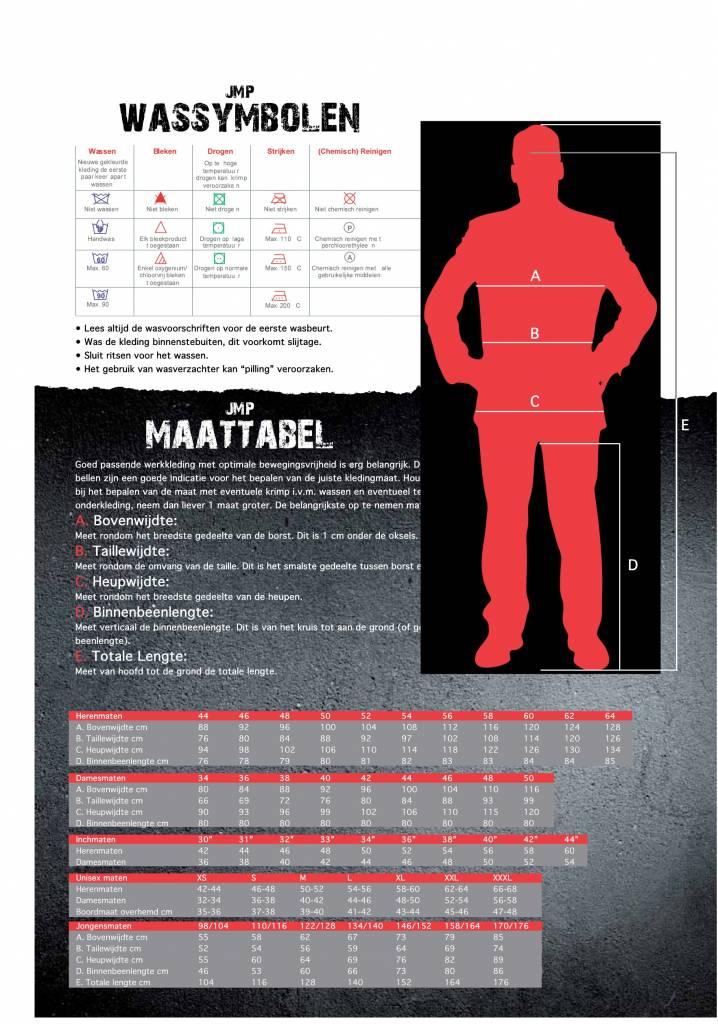 JMP Maattabel
