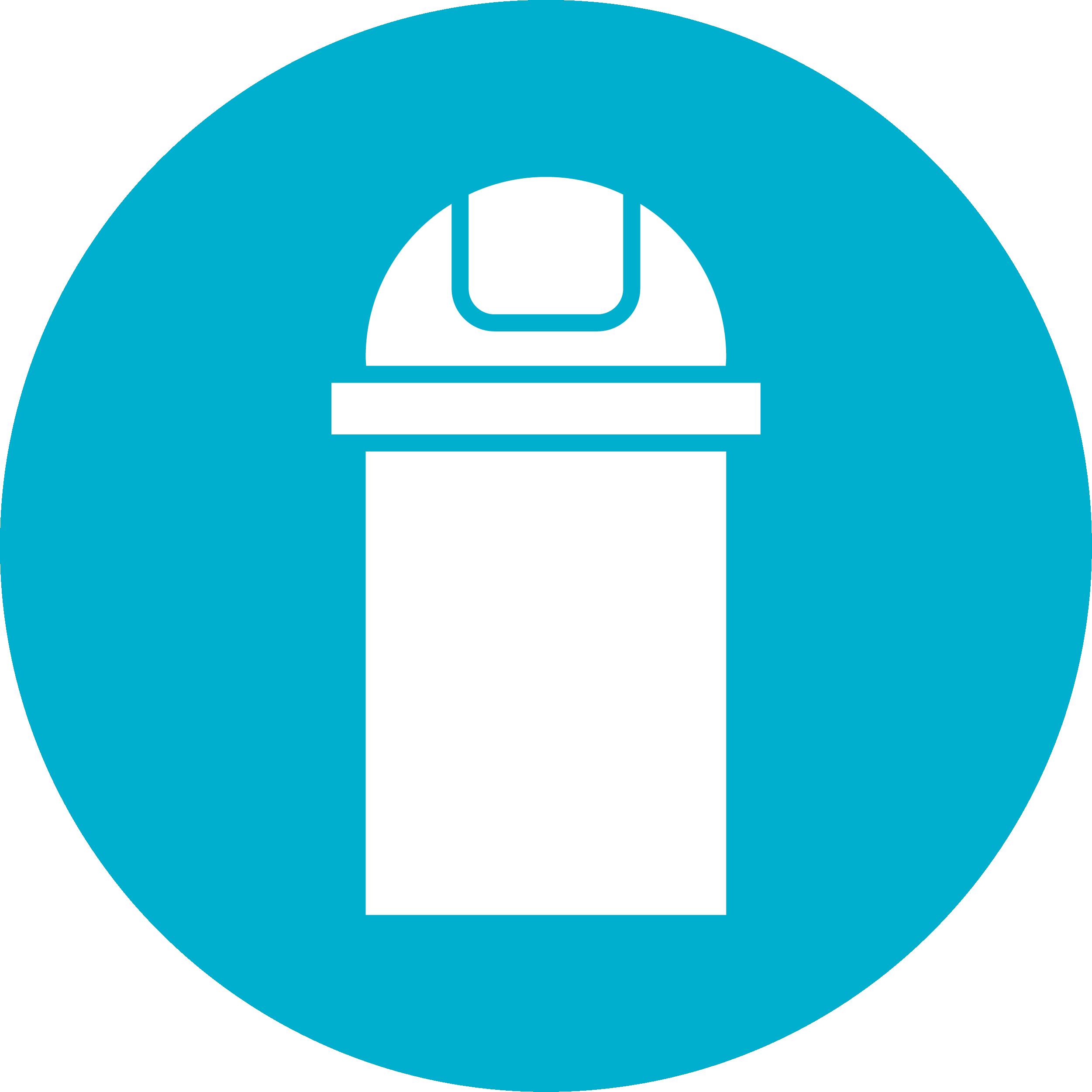 Afvalwerking, prullenbakken, containers en afvalzakken