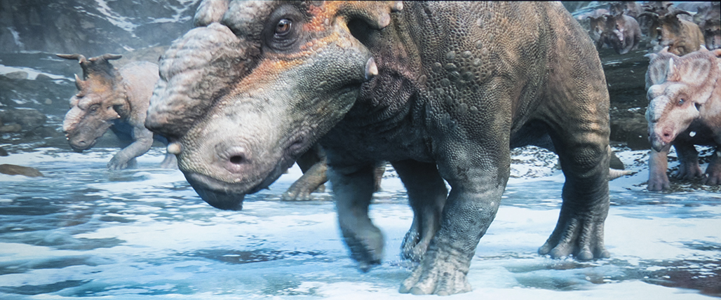 De Optoma HD27e projecteert Walking with Dinosaurs