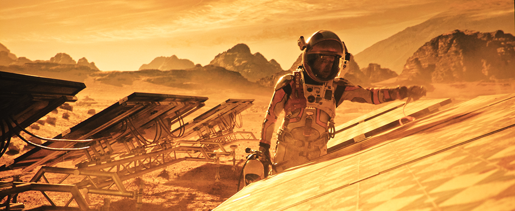 De Optoma UHD40 projecteert The Martian in UHD HDR