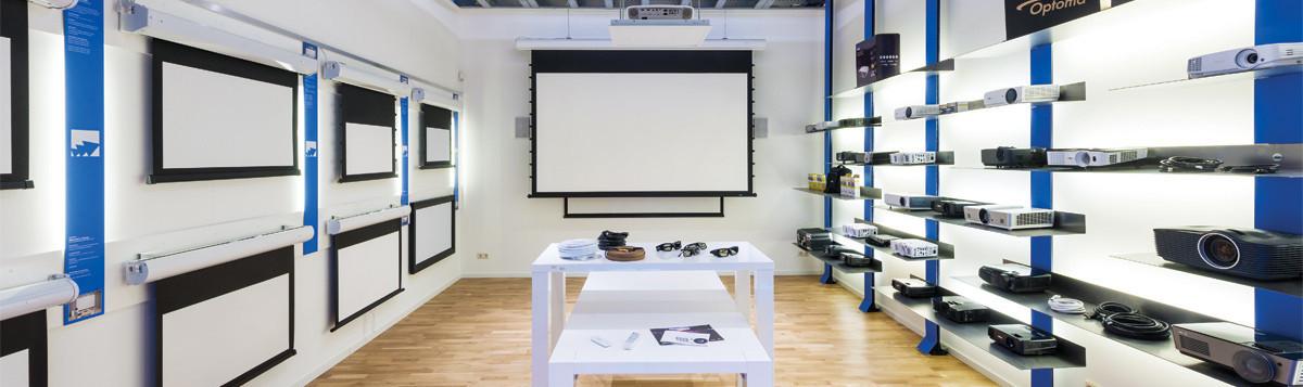 Beamer showroom van TheNextShop