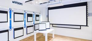 Projectiescherm showroom