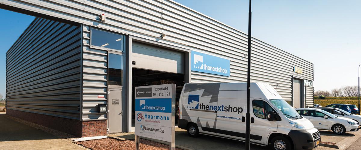 Magazijn van TheNextShop in IJsselstein