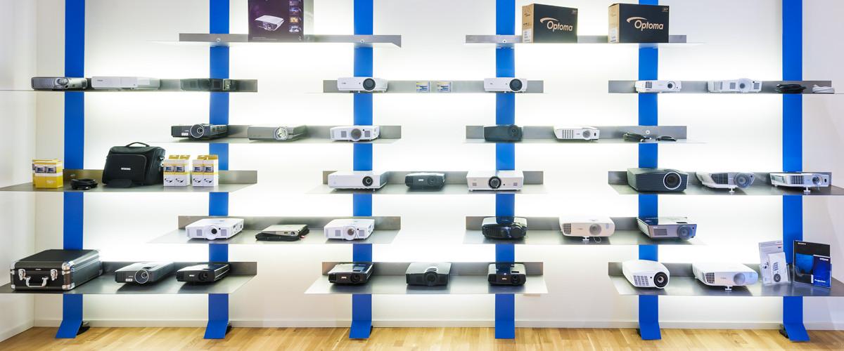 Zakelijke beamer showroom van TheNextShop