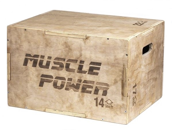Muscle Power Houten Plyo Box Klein