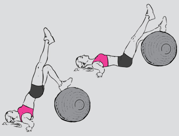 Single Leg Swiss Ball Hips Raises