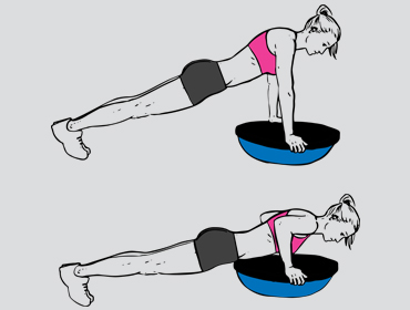Bosu bal push up