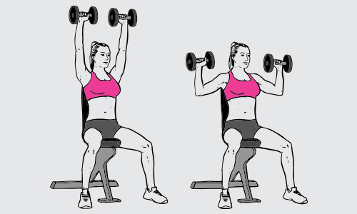 Dumbbell overhead shoulder press