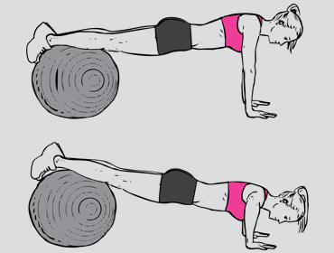 Fitnessbal push up