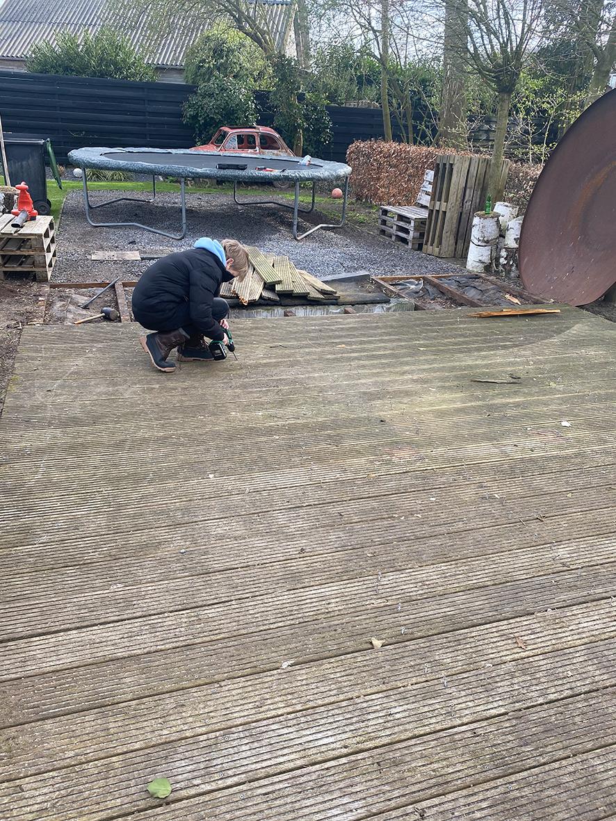 Een nieuw keramisch terras voor Wendy Koning van Studio Zinnig