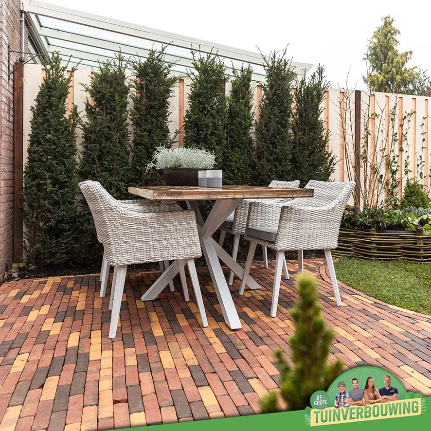 de grote tuinverbouwing gebruikte materialen afl. 17