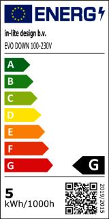 Energielabele evo down dark 100-230V