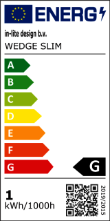 Energielabel wedge slim dark
